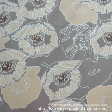 Poly Printed Lining with Cream-Coloured Flower for Garment