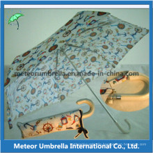 3 Folding Ladies Umbrella for Sun and Rain Use