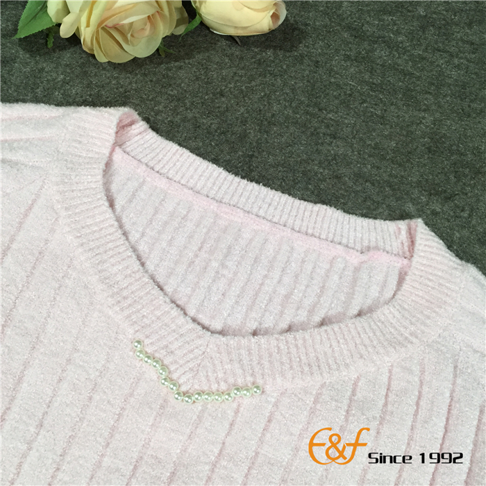 Graceful Sweater with V Neck