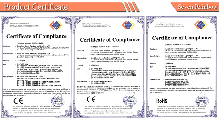 certifications of 2G11 led tube light