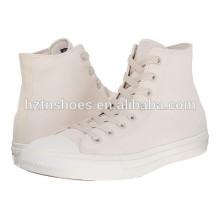 China-Fabrik-preiswerter weißer Segeltuch-Schuh-Großverkauf-Frauen-flacher beiläufiger Schuh