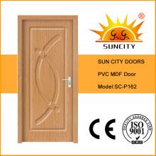 Китай высокое качество твердые МДФ ПВХ Конструкция двери (СК-P162)