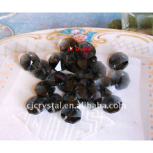 Lâmpada preto vidro octagon beads