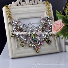 2017 мода праздник бирюзовая акриловая акрил бусины бахрома кристалл ожерелье