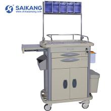 Chariot clinique de médecine d'urgence d'hôpital économique de SKR-AT312 avec des tiroirs