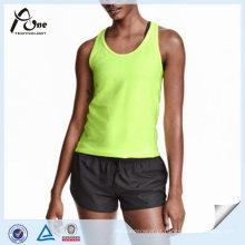 Mulheres Neon Runing Top Vest para Desgaste Ativo