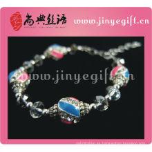 Pulsera de perlas de cristal hecho a mano de moda Bijoux