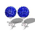 2014 nova declaração jóias cristal bola orelha Studs