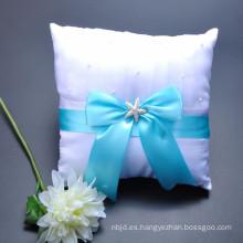 Decoración personalizada de alta calidad coloreado bowknot hermosa almohada portador al por mayor