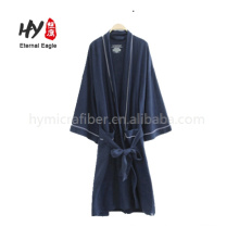 Customized embroidery terry cotton bathrobe for hotel