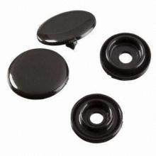 Botão de pressão do plástico de cor moda do cliente para a roupa