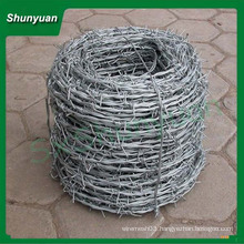 Cheap! Hot dip/ Electric galvanized Double Twist Barbed wire with ISO9001