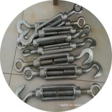 Gire el torniquete galvanizado eléctrico forjado DIN1480 con el gancho y el ojo