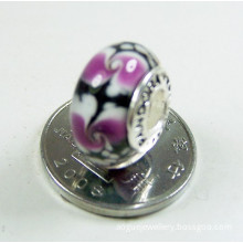 Auth Murano Glass Beads with_925 silver screw core