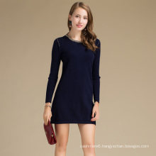 High Performance Graphic Design Knitted Sweater Dress Wool Cashmere Blend Sweater