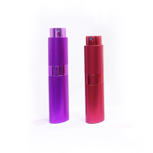 Aluminum shell portable travel perfume mist spray bottle