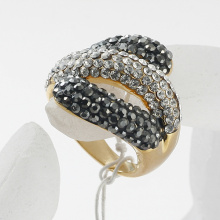 Foreign trade wholesale fashion jewelry direct factory price new metal alloy rhinestone crystal women's rings