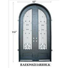 Puerta de hierro de calidad superior de moda de estilo occidental