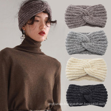 Bandeau fascia per capelli warm corduroy knitted Braid cross sports headband ear protection headgear Winter Thick hair accessori