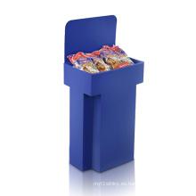 Dumpbins de color corrugado de pantalla completa, Pop Paper Display Stand