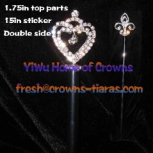 Crystal Pageant Heart Shaped Scepters