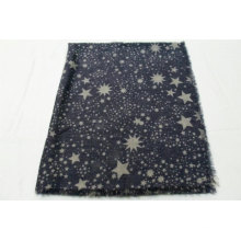 hotsale star print polyester long african scarf Light and breathable sunshade