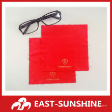 gold stamp printed microfiber glass cleaning cloth