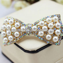 bridal hair accessory wholesale hair bows fashion stone hair clip