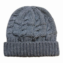 Damenmode Acryl Gestrickte Winter Warm Beanie Hut (YKY3102)