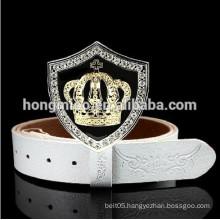 Crown Rhinestone Rivet Genuine Leather belt metal belt boxing belt championship belt person punk rock