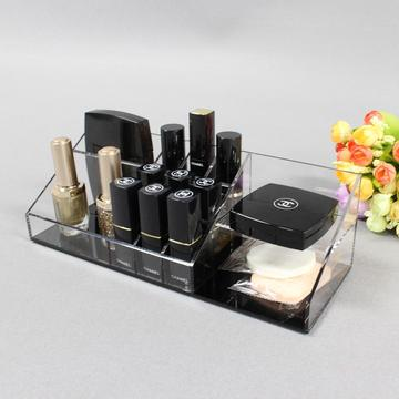 Doorzichtige plastic make-up houder