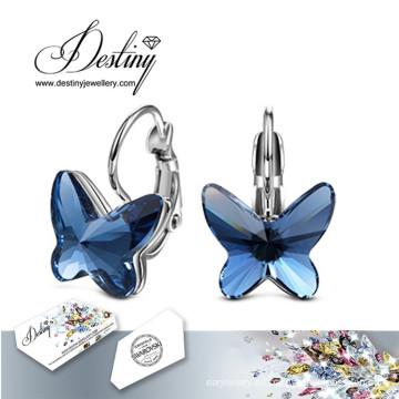 Destino los cristales de la joyería de Swarovski mariposa aretes
