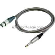 Serie DME F XLR para micrófono Mono Jack Cable