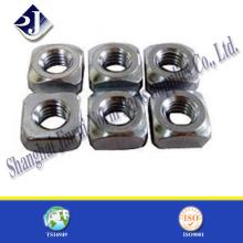 M12 DIN557 Standard Stahl Vierkantmutter für Bolzen