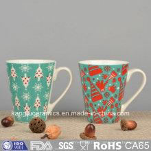 Taza de cerámica del diseño de la etiqueta del OEM del precio barato