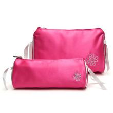 Travel Makeup Bag Set in Passionate Pink