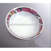 Cuvette ronde en biscuit en porcelaine à usage quotidien