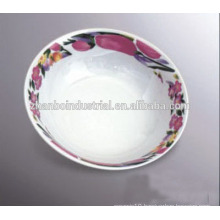 daily use round porcelain ceramic bakeware bowl