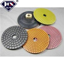 Wet almofadas de polimento abrasivas de piso de diamante flexível