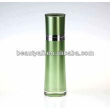 Redonda cintura acrílico cosméticos loção recipiente com bomba