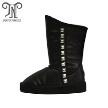 PU Leather Boys Winter Boots Shoes with Studs