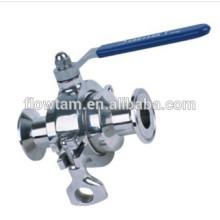 Bom usado sanitárias aço inoxidável braçadeira válvula de esfera