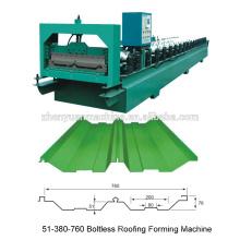 Meistverkaufte hydraulische automatische Joint Hidden Art Rollenformmaschine / Maschinen auf Produktionslinie