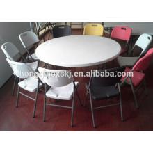 Mesa de comedor plegable redonda 6FT