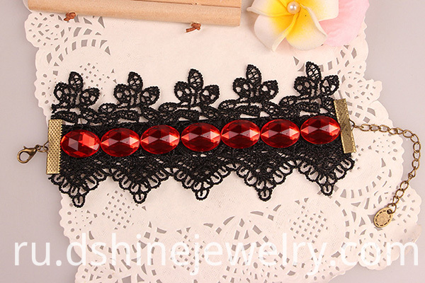 Black Hockey Lace Bracelet