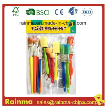 Bleached Bristle Paint Brush for School Kids