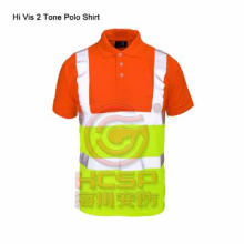 Reflective Safety Shirt High Visibility  Safety 2 Tone Polo Shirt