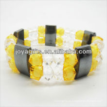 01B5004-1 / novos produtos para 2013 / hematita spacer pulseira de jóias / bracelete de hematita / pulseiras de saúde hematita magnética