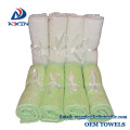 Super soft bamboo fiber baby washcloth with PVC bag packaging