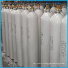 Réservoir de gaz sans couture à haute pression d'oxygène de l'acier 40L (ISO9809-3)